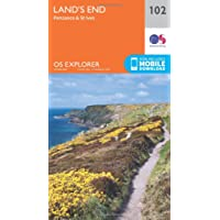 Land's End, Penzance and St Ives 1 : 25 000 (OS Explorer Map, Band 102)