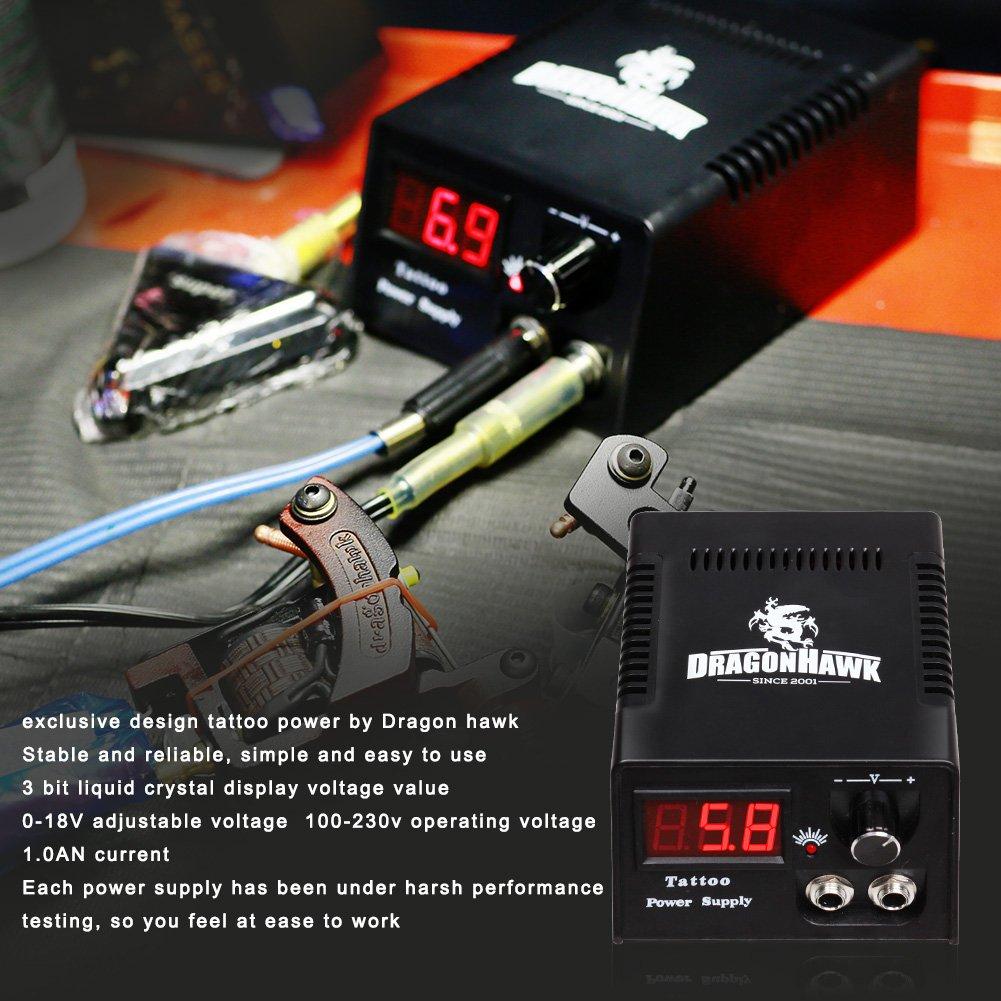 Tattoo Kit Machine Gun Power Supply Needles Grip Tip Ink Rotary Diagram Clipper Parts Mgt 25 Usa Storage Health Personal Care
