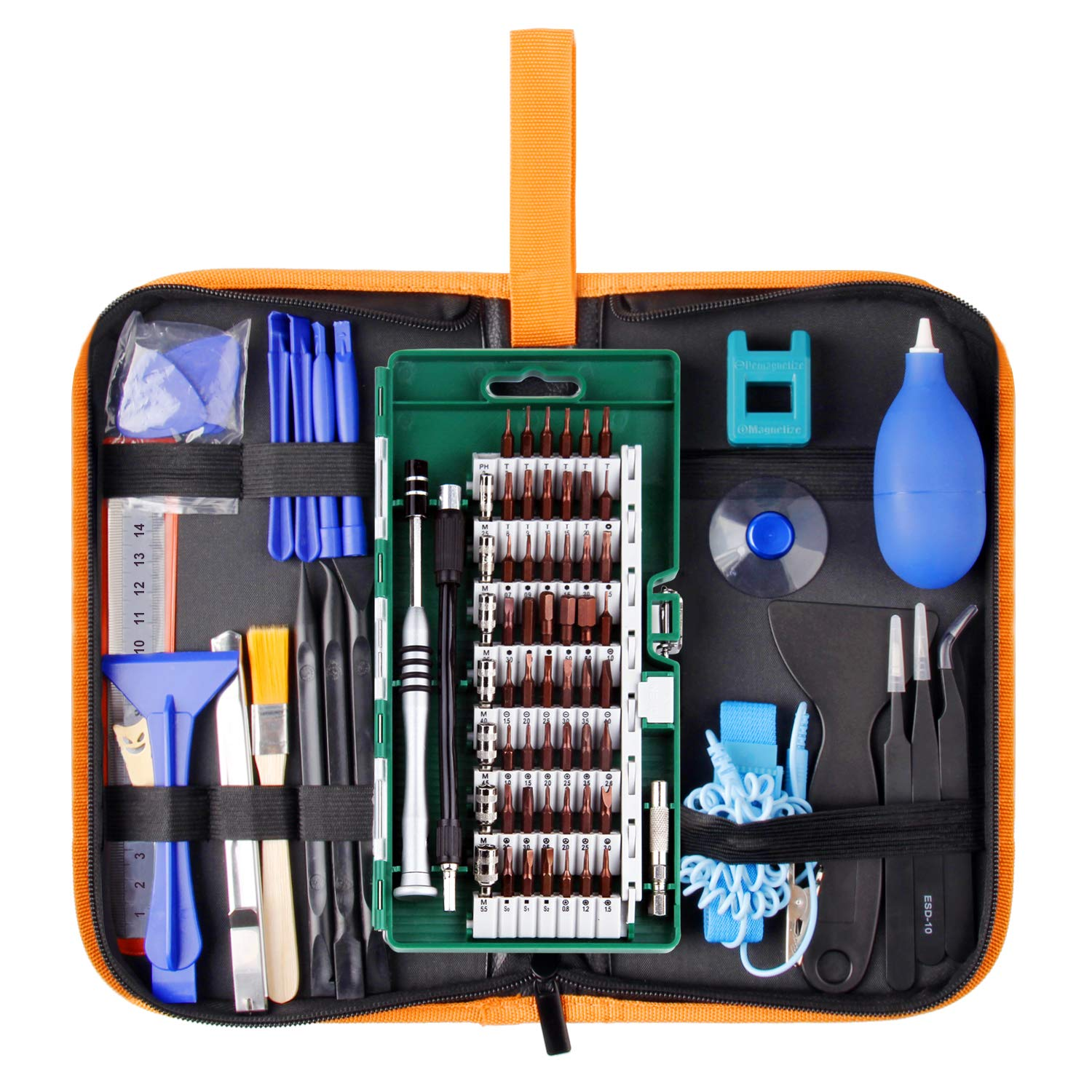 Precision Screwdriver Set 85 in 1 Repair Tool Kit Electronics Magnetic Driver Kit with Premium Portable Bag for Cell Phone, iPhone, iPad, Watch, Tablet, PC, MacBook Laptop and More by WOWGO Coolife