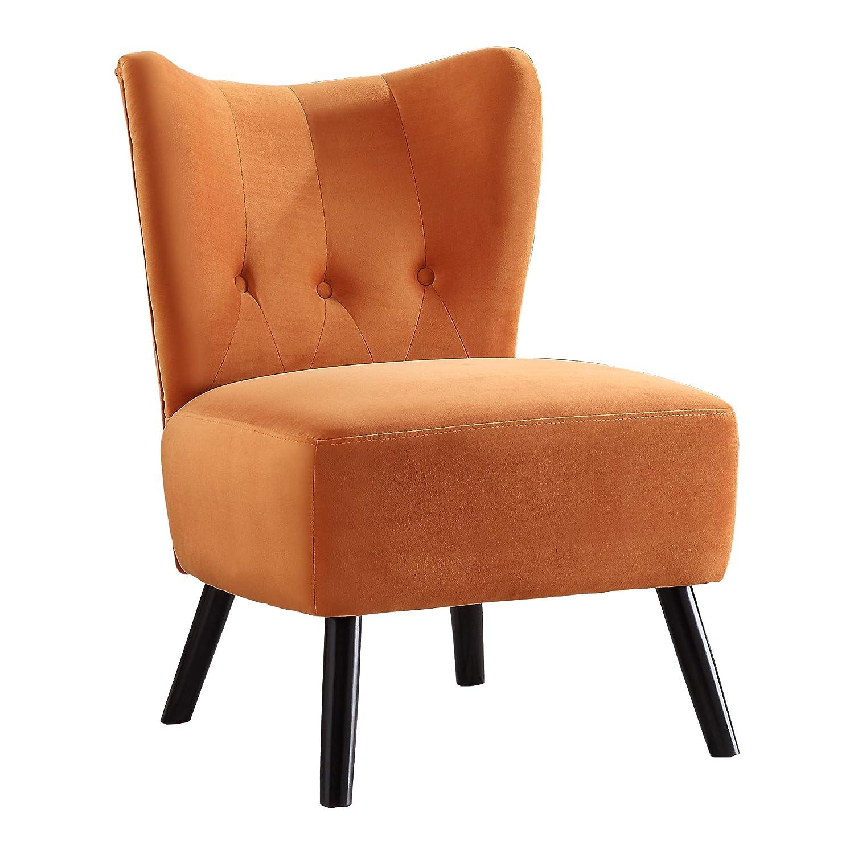 Fantastic Homelegance Tamsin Velvet Accent Chair Orange Pdpeps Interior Chair Design Pdpepsorg