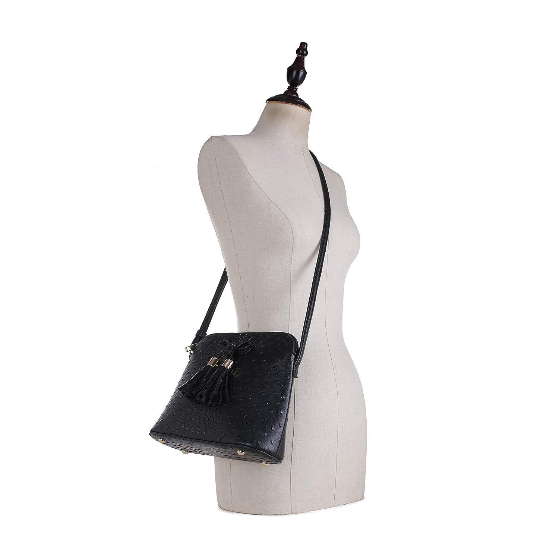 Amazon.com: SG SUGU - Bolso bandolera con diseño de avestruz ...