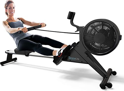 SereneLife Home Rowing Machine-Air and Magnetic Rowing Machine-Exercise Machine