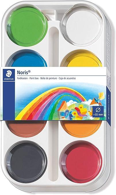 STAEDTLER 8871 K8 - Pack de 8 pastillas de acuarela: Amazon.es: Oficina y papelería
