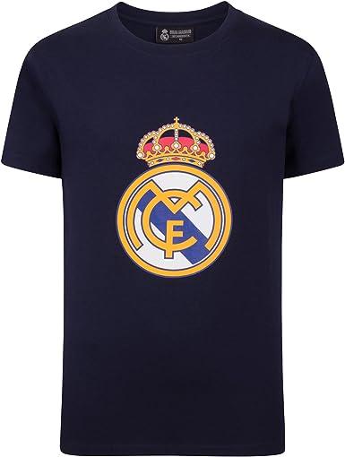 Real Madrid - Camiseta Oficial para niños - con el Escudo del Club: Amazon.es: Ropa y accesorios