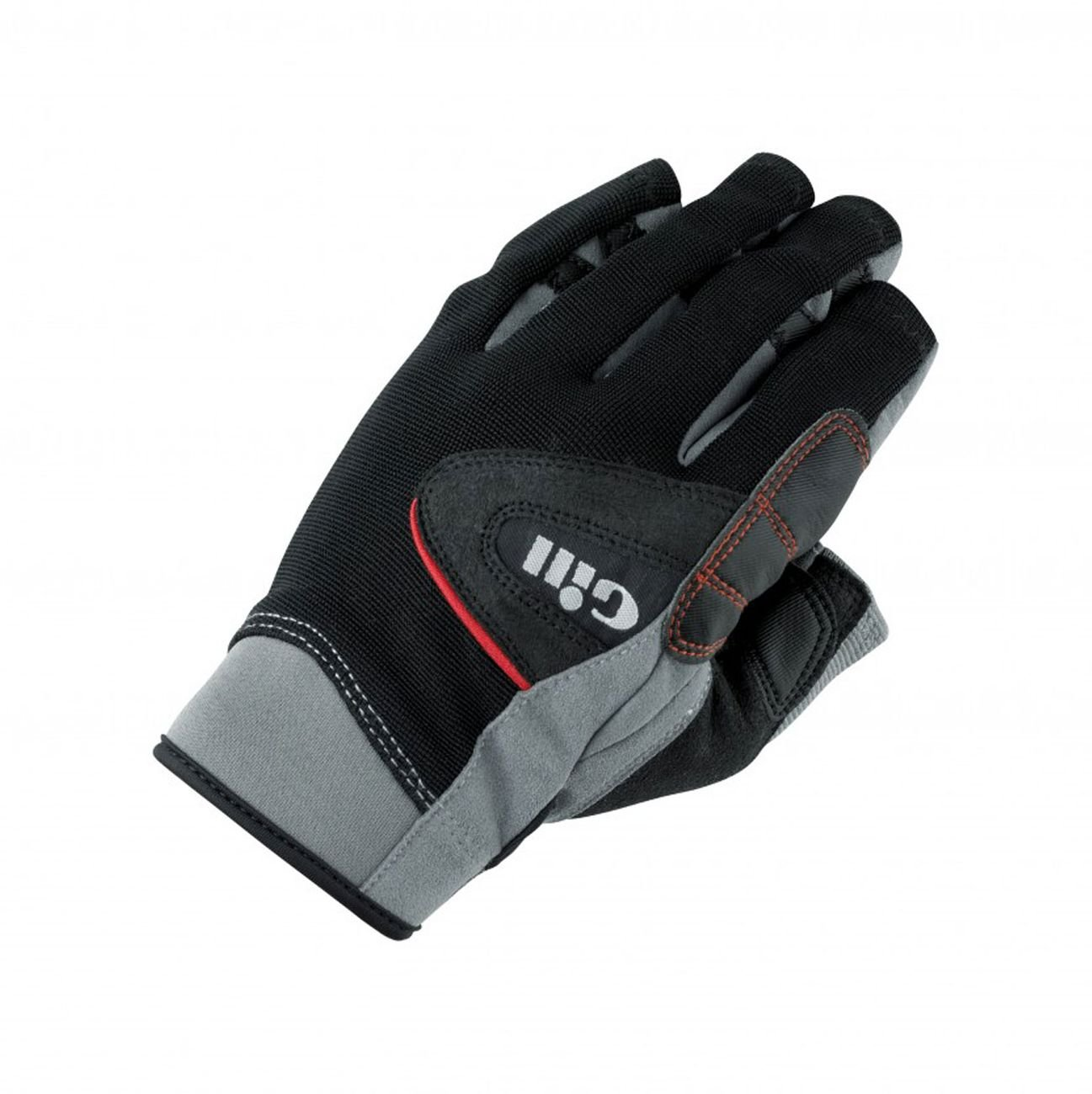 Gill Championship Short Finger Sailing Yachting and Dinghy Gloves Black - Easy Stretch UV Sun Protection and SPF Properties