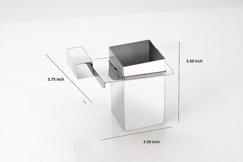 Portaspazzolino-Portaspazzolino con bicchiere in acciaio INOX