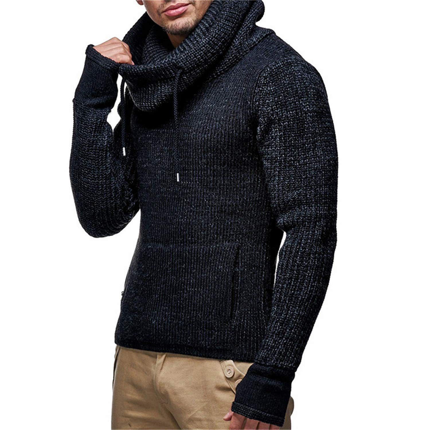 568589949 2019 New Pullover Sweaters Men Sweater Autumn Winter Pullovers Even Gloves  Sweaters Wigeo Knitted Coat Jacket Outwear Mens Slim Fit Pull Homme  Turtleneck ...
