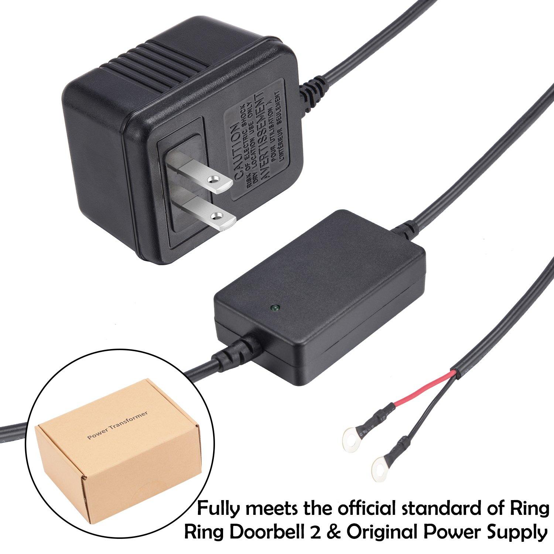 Power Supply Adapter Transformer for Ring Video Doorbell Doorbell 2 and Original Version by JOYEAN