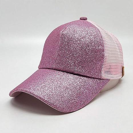 QEERT Sombrero Gorro de Malla para Mujer Marca Verano Brillante ...