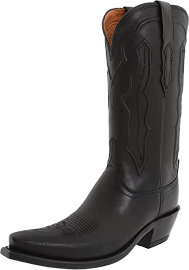 Lucchese Womens Black Boots Grace