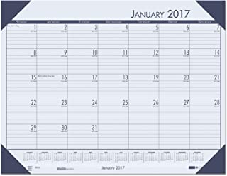 """product image for House of Doolittle 2017 Monthly Desk Pad Calendar, EcoTones, Blue Paper, 22 x 17"""" (HOD12440-17)"""