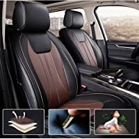 muchkey 3D Surrounded Luxury PU Leather Car Seat Cover for Mitsubishi I-miev ASX Full Set 5-Seats car seat Cover Front+Rear Cushion,Airbag Compatible