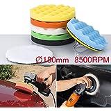Zipom 8pcs 7'' Polishing Buffing Pad Auto Car Polishers Buffer Set With Drill Adapter Kit
