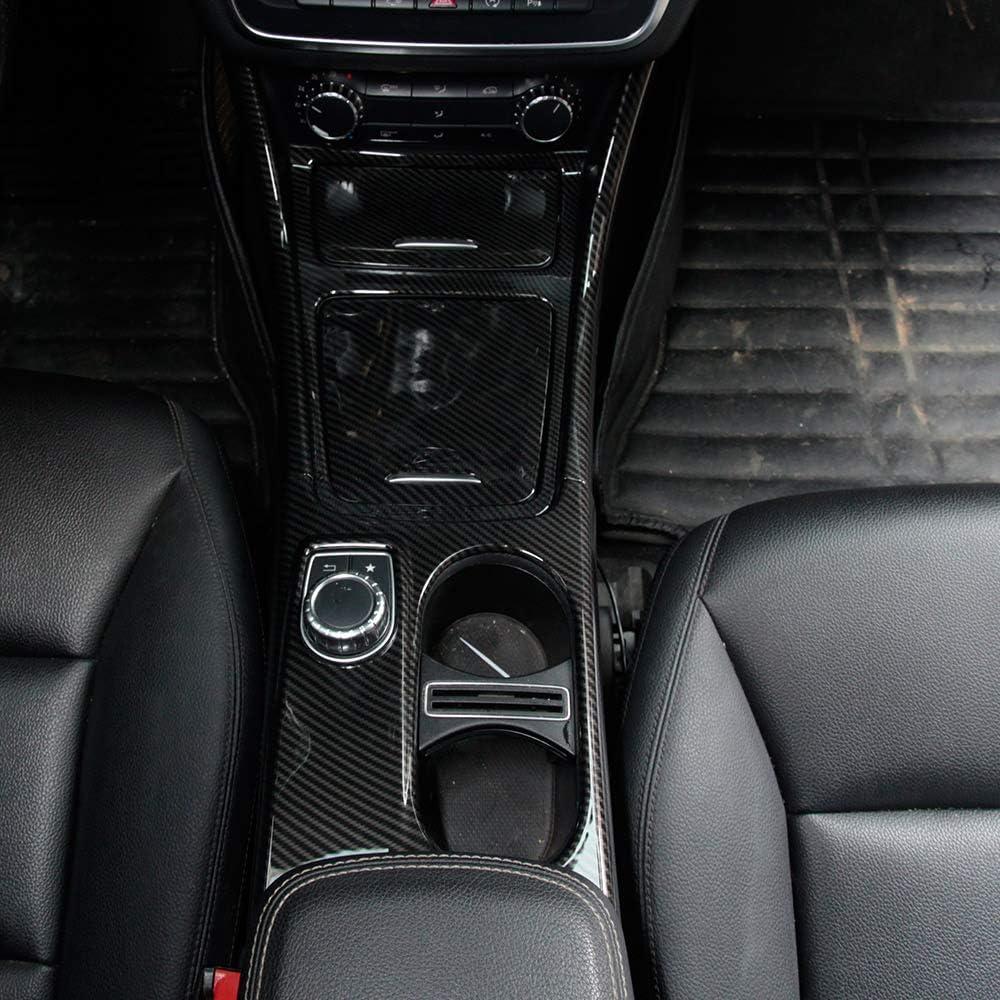 Diyucar Carbon Abs Auto Mittelkonsole Verkleidung Aufkleber Für Benz Cla Gla A Klasse W117 X156 W176 A180 2014 2018 6 Stück Auto