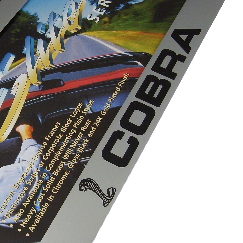 Ford Mustang Cobra Chrome Brass License Plate Frame Elite