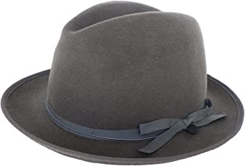 9d7a3c580df Brooklyn Hat Co Wool Felt Fedora with Label Wind Cord   Button