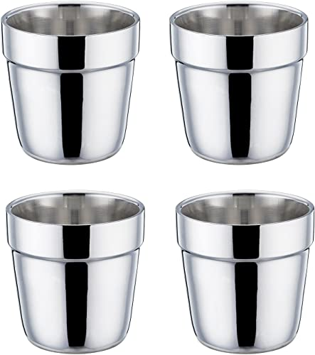 TeamFar Double-Wall, Stainless Steel Espresso Cup