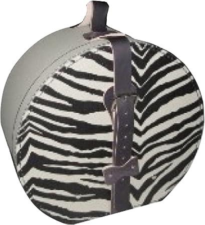 Sombrerera cartón con cebra en la tapa, funda de tela y correa aprox. Diámetro 40 x 20 cm sombrero maletín Papá Noel Guardar hutschachte sombrero Caja Cartón: Amazon.es: Hogar