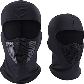 Outdoor Motorcycle Cycling Ice Silk Fabric Full Face Mask Neck Protect Balaclava