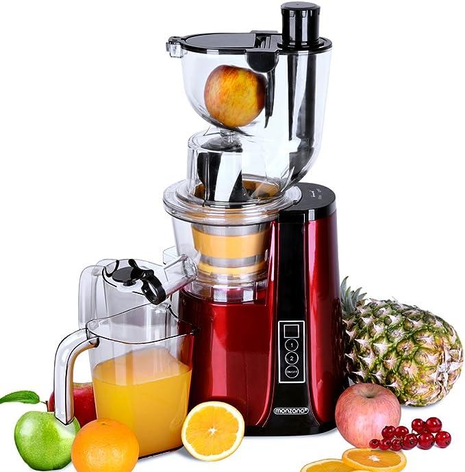 Monzana Licuadora Slow Juicer exprimidor de frutas verduras 500 W ...