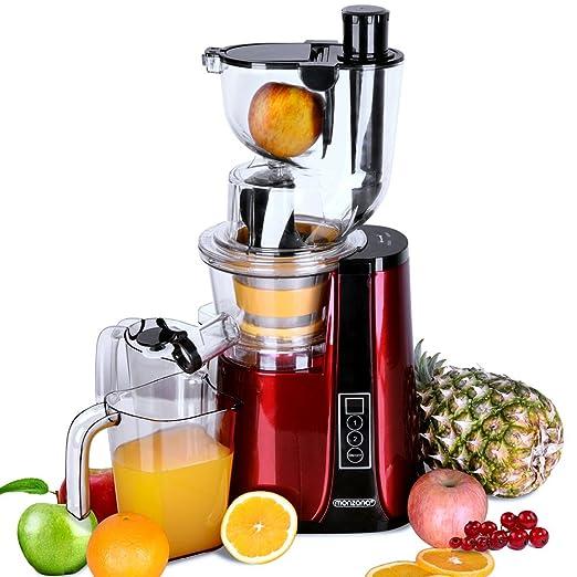 Monzana® Licuadora Slow Juicer exprimidor de fruta 500 W - 60U/min ...