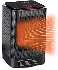 MroTech 950W Ceramic Space Heater, Portable Oscillating Electric Heater with Overheating Protection&Adjustable Heating&Carrying Handle,3 Wind Modes,Quiet,Perfect for Home&Office Use …