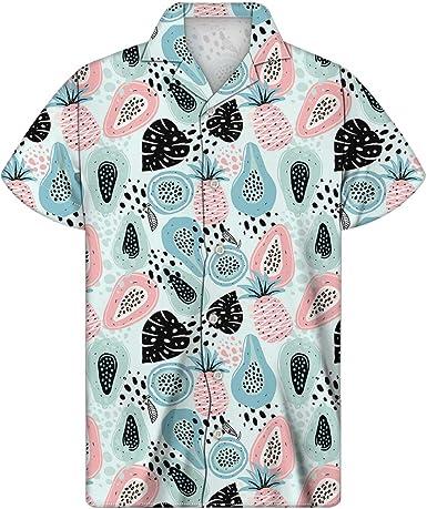 Agroupdream Aloha - Camisa hawaiana para hombre con botones de manga corta para playa, fiesta, verano, talla 2XS-4XL: Amazon.es: Ropa y accesorios