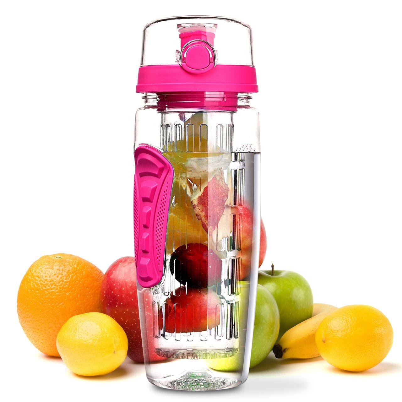 OMORC Wasserflasche, [BPA-Frei Tritan] Kunststoff Trinkflasche Sport ...