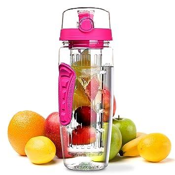 OMORC - Botella de agua de tritán, libre de plástico BPA, ideal para deportistas