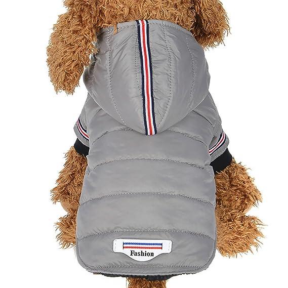 Fossrn Abrigo Perro Invierno Cachorro Chaqueta con Capucha Ropa Perro Pequeño Mediano: Amazon.es: Ropa y accesorios