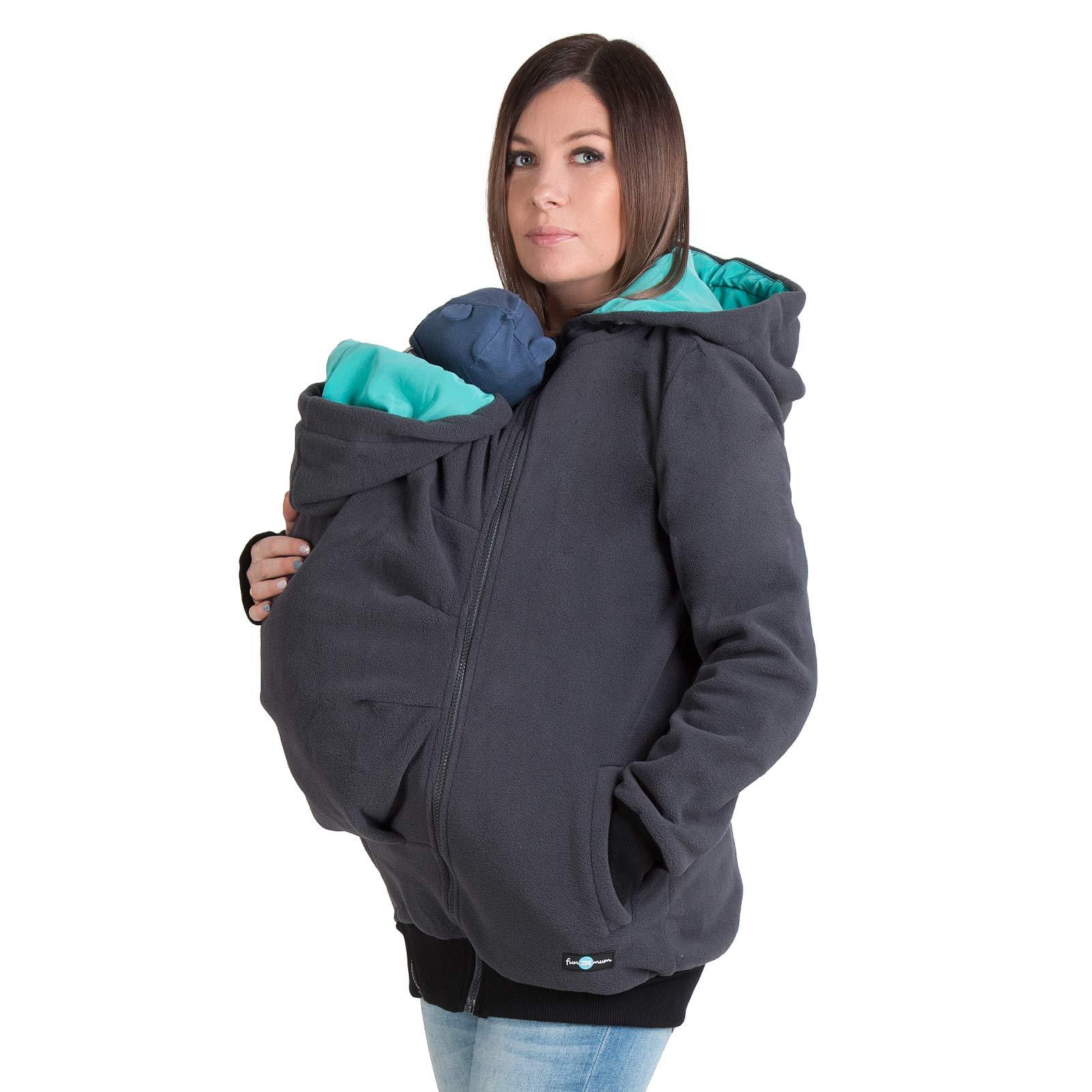 3in1 Maternity Multifunctional Kangaroo Hoodie/jacket for MOM and Baby, Baby Carrying Hoodie (S/M US 6/8) by FUN2BEMUM
