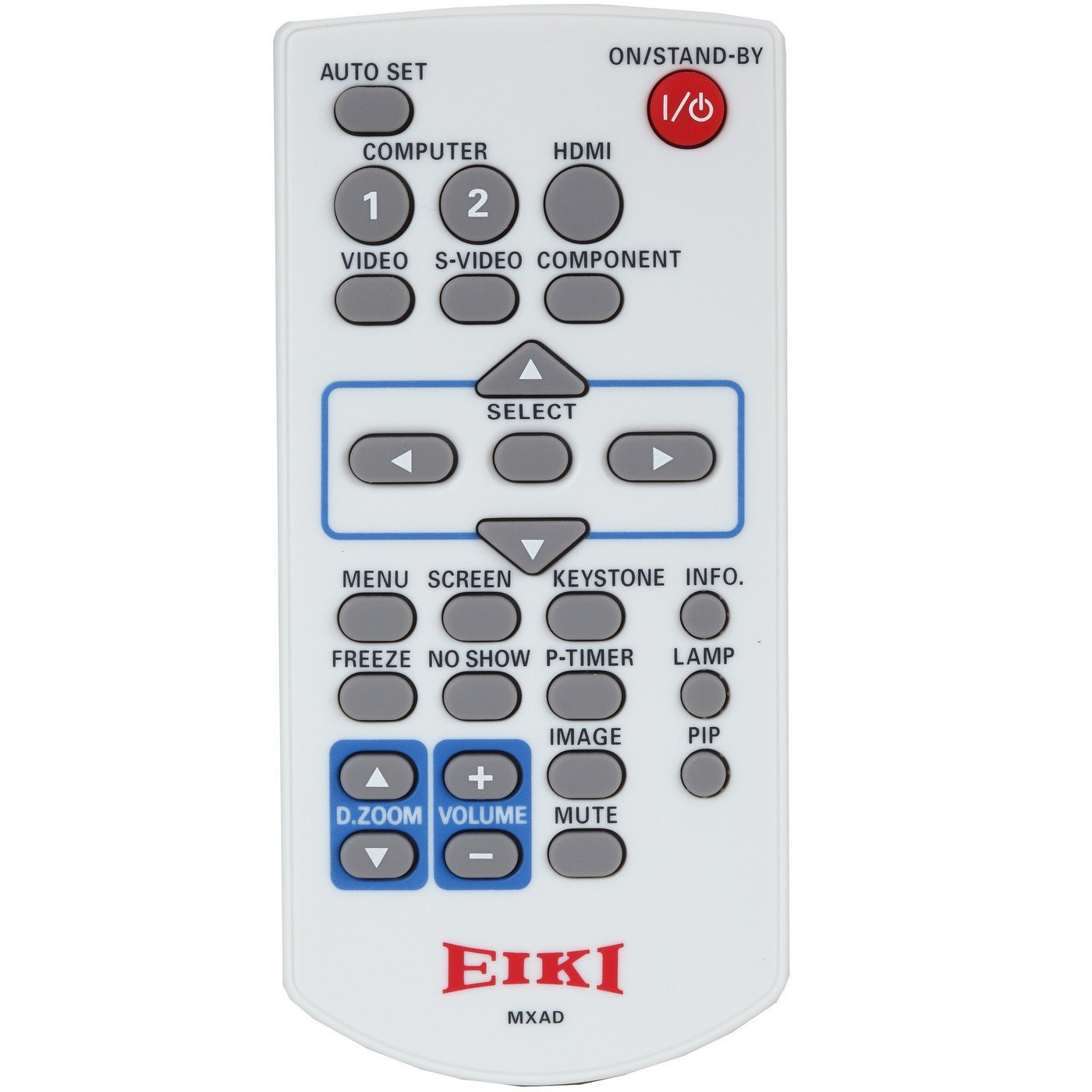 Eiki 645 099 3206 | Infrared Only Projector Remote for LC-WB200A LC-WB200 LC-WB200W LC-WB100 No Mouse Function