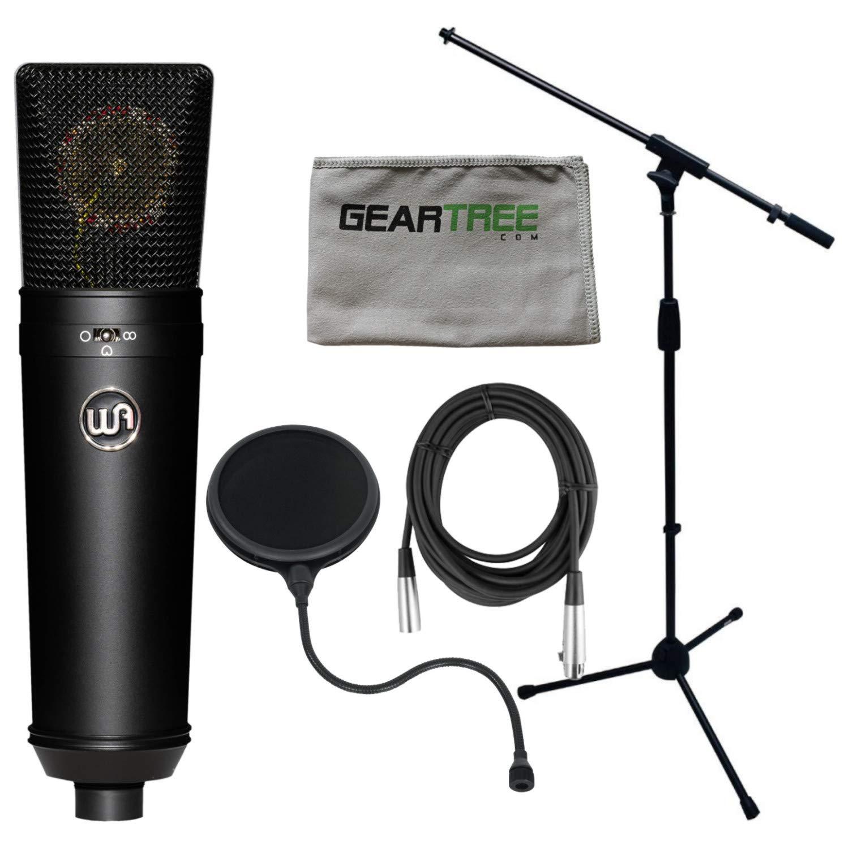 Warm Audio WA-87B LDC Condenser Microphone (Black) w/Shock Mount, Hard Mount, W