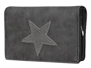 eb22cb9e3f937 Damen Luxus Stern Geldbörse Geldbeutel Brieftasche Portemonnaie Damenbörse  Börse Betongrau