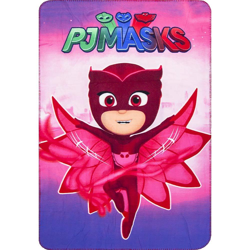 PJ Masks Kids Girls Owlette Soft Fleece Blanket Team Logo New 2017-2018 (Red)