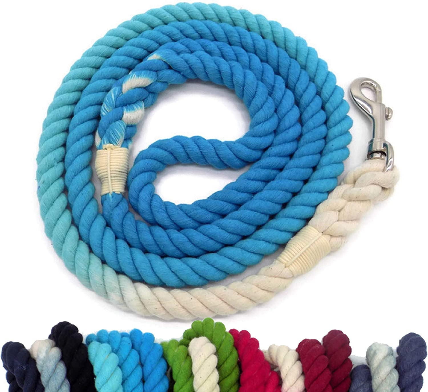 Soft and Durable Black Ombre Cotton Rope Cat /& Dog Collar
