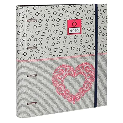 Archivador Enso Heart 4 Anillas + Recambio: Oficina y papelería