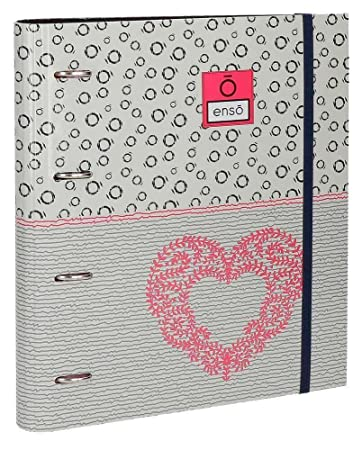 Archivador Enso Heart 4 Anillas + Recambio: Amazon.es: Oficina y papelería