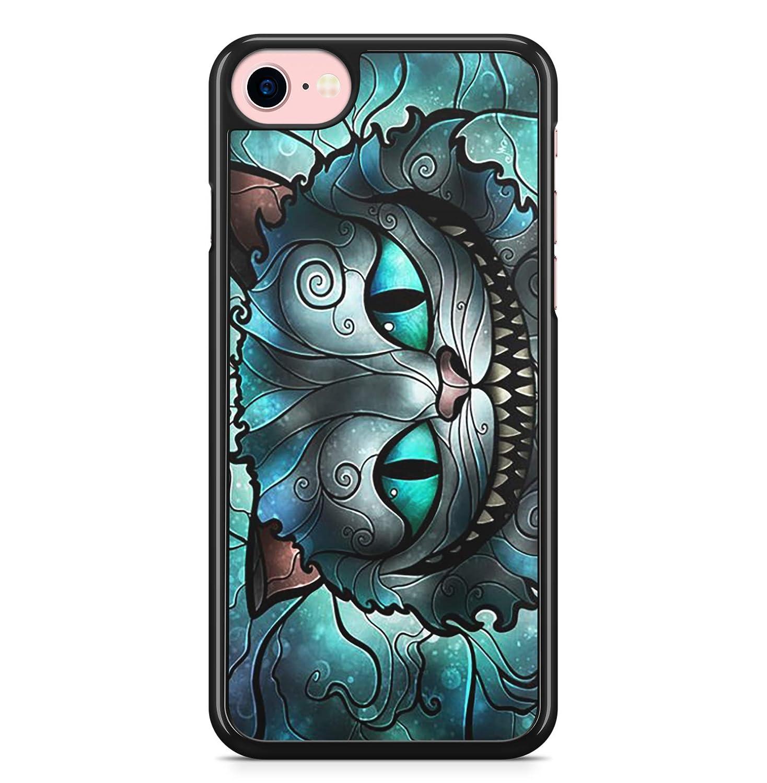 Coque iphone 4 4s 5 5s se 5c 6s plus 7 8 x xs max xr chat alice au pays des merveilles in wonderland disney