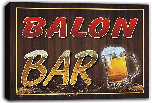 scw3 - 025431 Balon Nombre Home Bar Pub cerveza tazas de lienzo ...