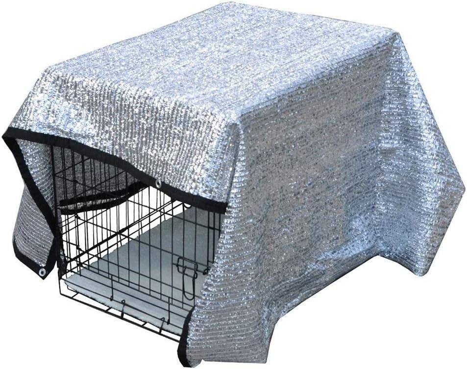 庭のための帆シェード、 日よけシェルター 温室のパティオの植物のための犬小屋の上の50%の反紫外線日焼け止めの日よけのための反射aluminetの陰の布カバー花植物テラスの芝生の日焼け止めの布 (Size : 3x6M(9.8x19.7ft))  3x6M(9.8x19.7ft)