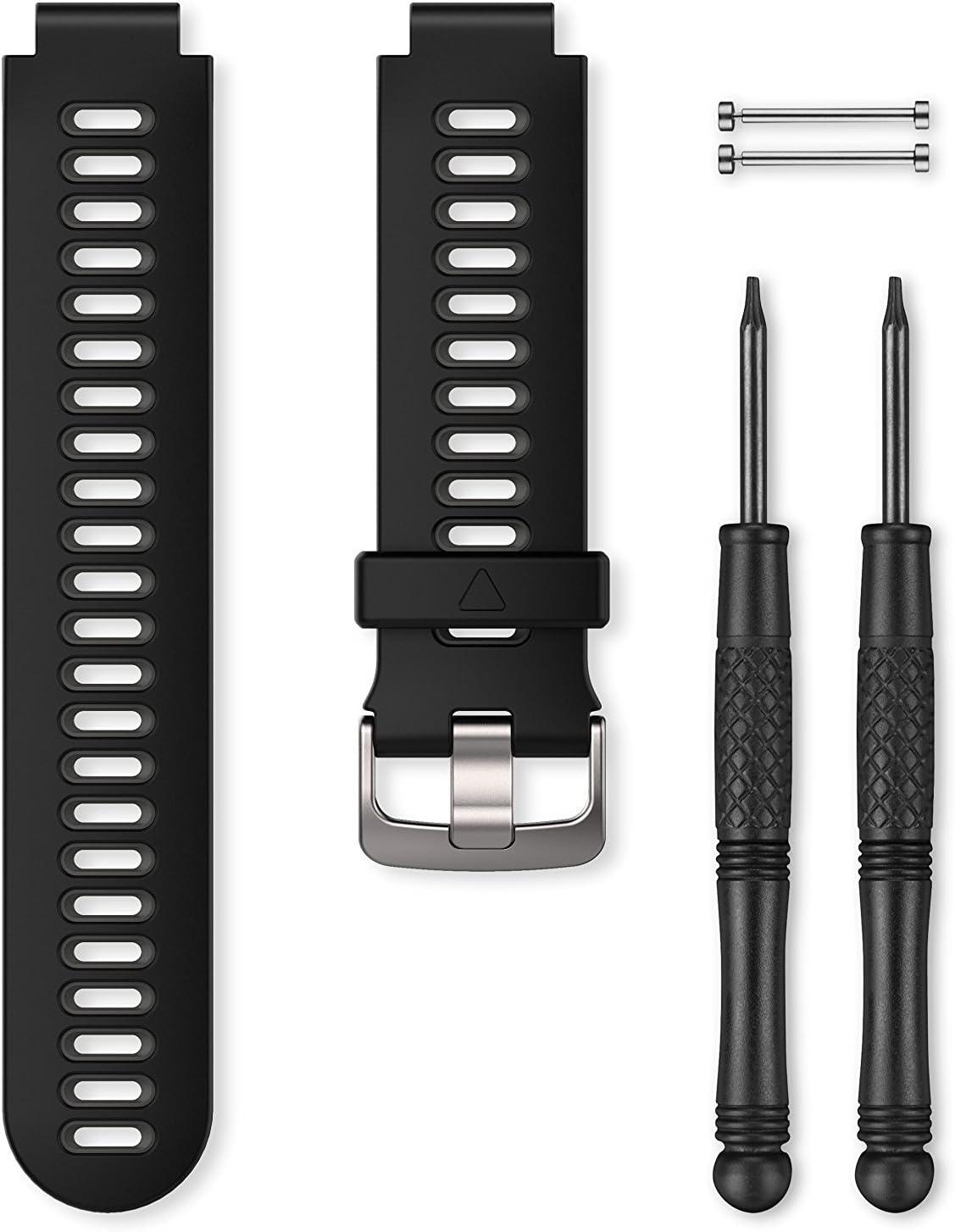 22mm Bracelet de rechange pour Montres Fenix 5 Cuir Quick Fit Noir Garmin