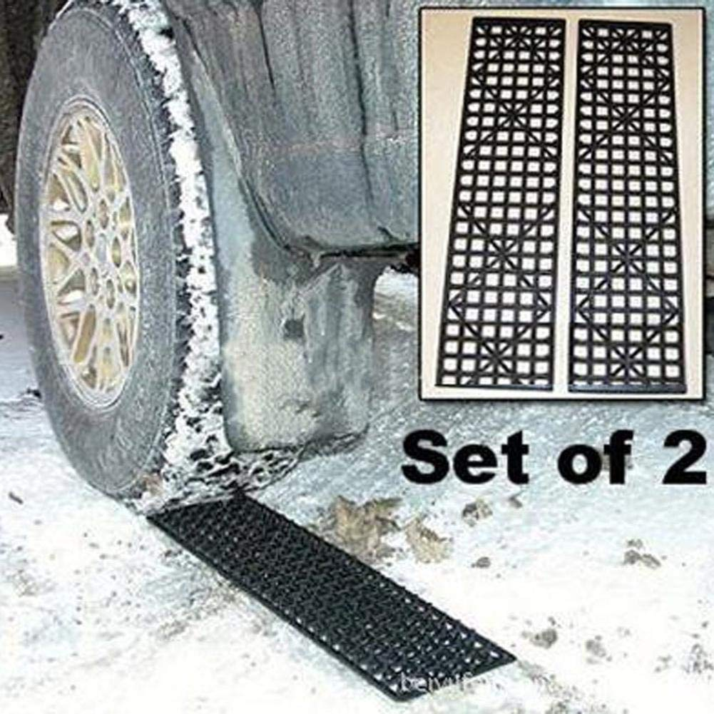 Anti Skid Plate Duty Track Boards Foldable Tire Tracks Car Safety Snow Mud Sand Rescue Escape 2pcs Traction Mats Self-help Off-board Belly With Mat Non-slip Universal Anti-skid Pad Auto Wheel Aid Tyre Shantan®