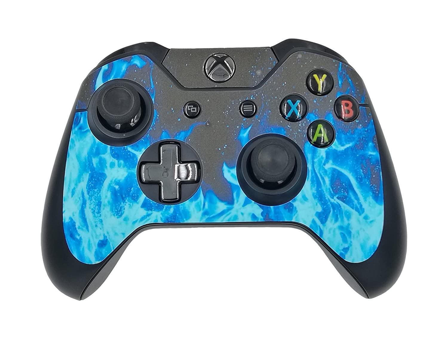 Amazon.com: SKINOWN Xbox One Controller Skin Blue Flame Blue Fire ...
