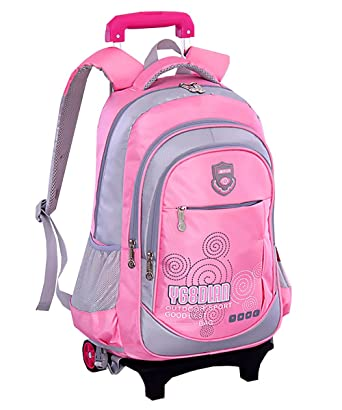 Amazon Com Juilletru Trolley Rolling Backpack Kids School Wheels