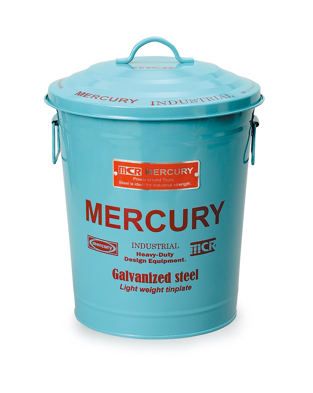 キーストーン フタ付きゴミ箱 ブルー 高さ/約41cm, 幅/約30.2cm, 奥行/約30.2cm B01HYY90K0 ブルー ブルー