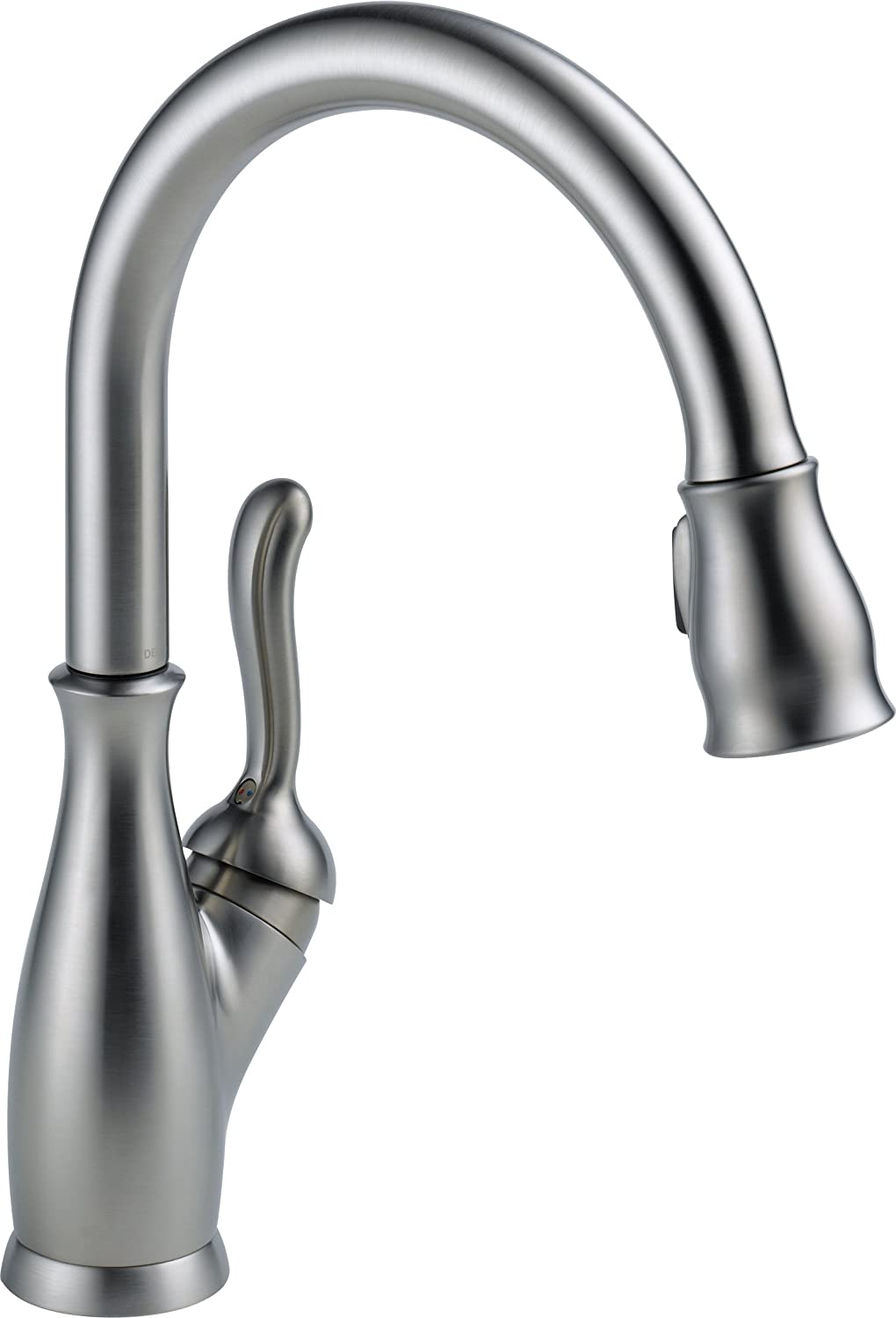ordinary Delta Faucet Kitchen #1: Delta Faucet 9178-AR-DST Leland Single Handle Pull-Down Kitchen Faucet with  Magnetic Docking, Arctic Stainless - Touch On Kitchen Sink Faucets -  Amazon.com