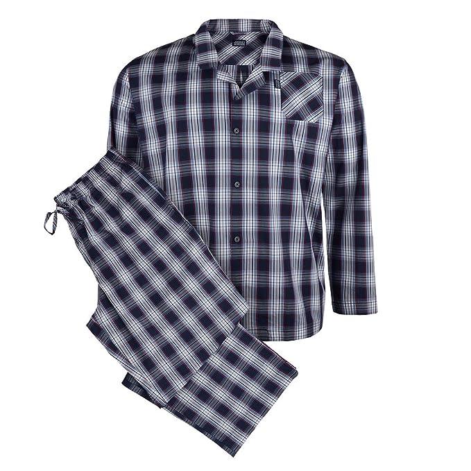 Jockey Pijama largo de cuadros azul oscuro-azul-rojo, 2xl-8xl: