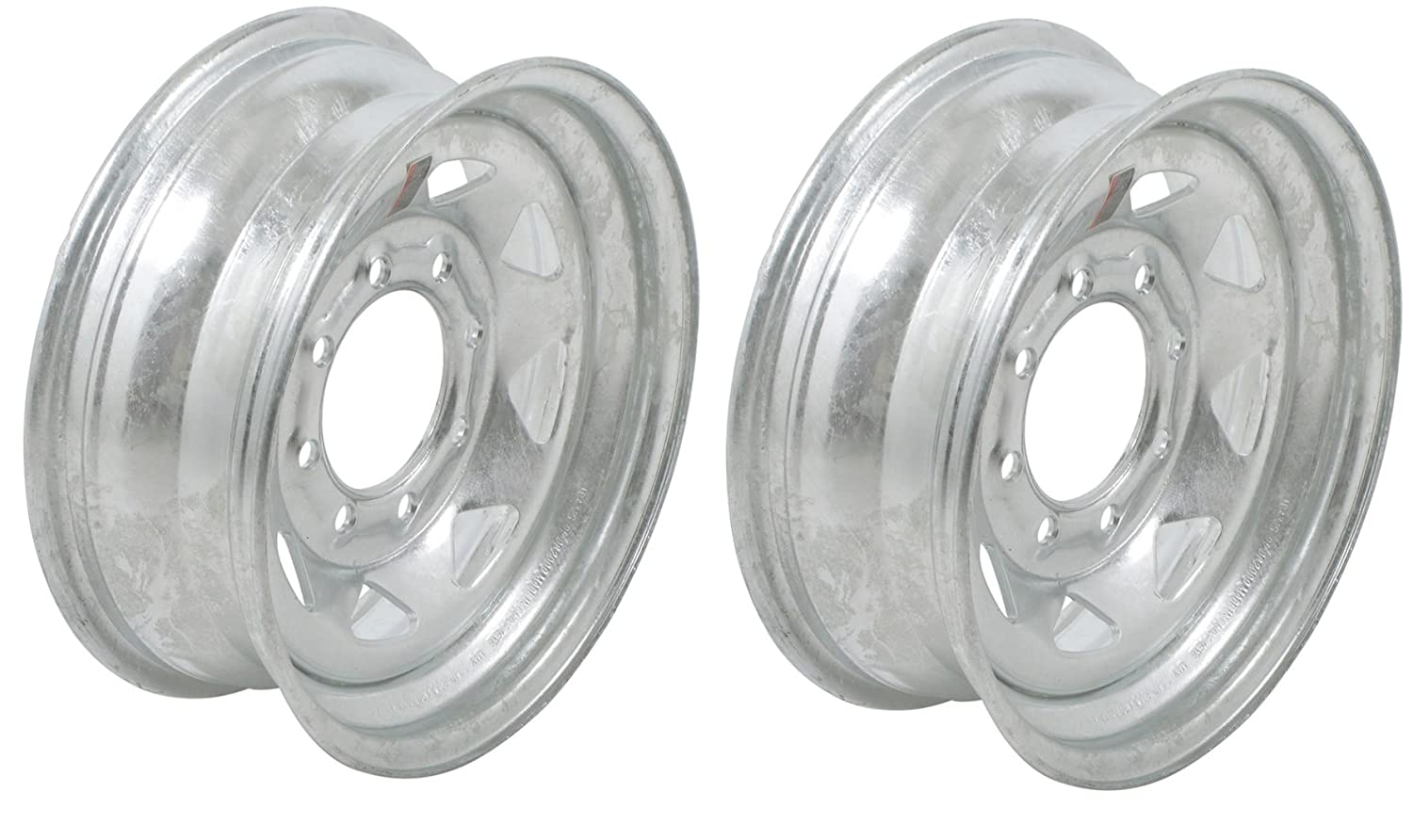 eCustomRim 2-Pack Trailer Wheel Galvanized Rims 16 x 6 Spoke (8 Lug On 6.5' Center)