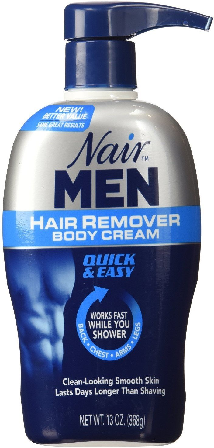 Nair For Men Hair Removal Body Cream 13 oz (Pack of 12)